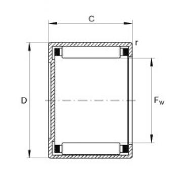 INA BCH1110 needle roller bearings
